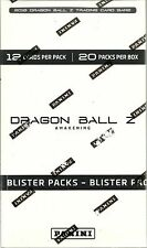 2016 Panini DragonBall Z Awakening New Sealed 20 Pack Blister Booster Pack Box