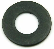 Black Oxide Stainless Steel Flat Washer #10, Qty 100