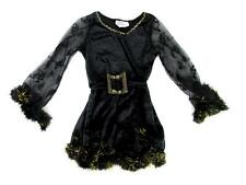 CALIFORNIA COSTUME COLLECTIONS KIDS GIRLS BLACK GOLD ADORABLE WITCH DRESS SM EUC