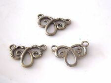 Bronze Tone Earring Findings    6ct  (USA)