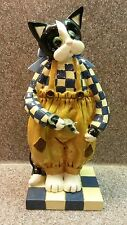 1997 ENESCO DONNA LITTLE STANDING KITTY CAT HOLDING A MOUSE FIGURE