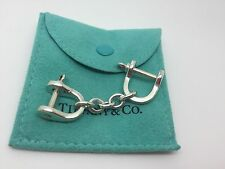 Rare Tiffany & Co. Sterling Silver Small 2 Shackle Handcuffs Valet Keychain