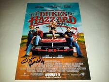 """THE DUKES OF HAZZARD CASTX3 PP SIGNED 12""""X8"""" POSTER JOHNNY KNOXVILLE"""