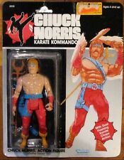 CHUCK NORRIS TOYS Chuck Norris Battle Gear figure MOC NEW KENNER 1986