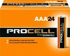 NEW DURACELL PROCELL AAA ALKALINE BATTERIES TWENTY-FOUR (24) PER BOX EXP IN 2021