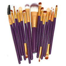 15pcs Makeup Brush Set tools Make-up Toiletry Kit Wool Make Up Brush Set Kit h8