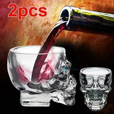 2pc Crystal Skull Head Glass Cup Beer Vodka Cocktail Red Wine Drinkware Party TR