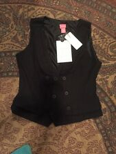 NWT Black DuJour Trend Right Now Fashion Vest size med