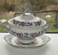 Antique Masons Ironstone Swansea Pattern Lidded Tureen & Stand c1900