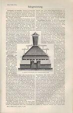Druck 1908: Salzgewinnung. Steinsalz Solen Salzkote Sudhaus Tafelsalz Lauge
