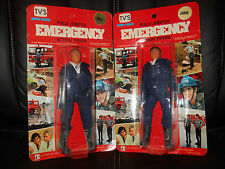 "LJN/hasbro/remco EMERGENCY""51""TV John Gage/Roy DeSoto figures moc UNPegd,sealed."