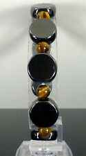 MAGNETIC HEMATITE BRACELET TIGER EYE SUPER STRONG ARTHRITIS PAIN RELIEF THERAPY