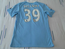 """Manchester CITY FOOTBALL CAMISA TAMAÑO 38"""" número 39 Bellamy Umbro"""