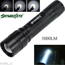 5000 Lumens 3 Modes CREE XML XPE LED 18650 Flashlight Torch Lamp Zoomable Focus