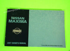 1997 Nissan Maxima Owners Manual Owner's Guide Book