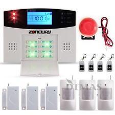 Wireless LCD GSM Einbruchschutz Funk Alarmanlage Kit Haus Sicherheit Alarmsystem