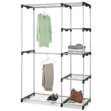 Closet Organizer Storage Rack Portable Clothes Hanger Home Garment Shelf Rod 147
