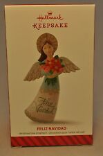Hallmark - Feliz Navidad - 2014 Angel Armful of Blossoms - Keepsake Ornament