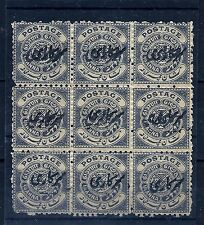 1/2 PRICE SALE,1911-12 HYDERABAD, SG29b 6 STAMPS OVPT DOUBLE,V.RARE KEDVII,INDIA