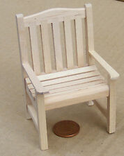 1:12 Natural Finish Wooden Chair Dolls House Miniature Garden Accessory 145