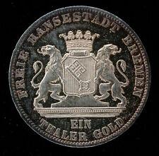 ALLEMAGNE - BREME - 1 THALER 1865 - 50.000 EX - FDC