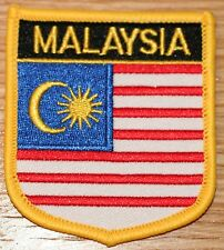 MALAYSIA Shield Country Flag Embroidered PATCH Badge P1