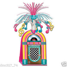 1950s Sock Hop Grease Party Table Decoration JUKEBOX CENTERPIECE Metallic Spray