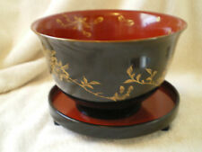 Vintage Lacquered Bowl w/Footed Underplate