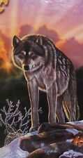 """DAWN'S EARLY LIGHT"" Wolf Wilderness Sunrise 3FT Long BOXLESS Jigsaw Puzzle NEW"