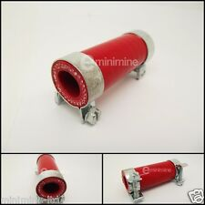 Classic Mini Red Silicone Bypass Hose and Clips rover austin 998 cooper clubman
