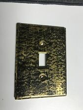 SUPERB RARE VINTAGE Stangl Pottery BLACK GOLD LIGHT SWITCH PLATE Cover MINT