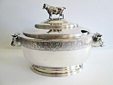 Antique REED & BARTON Silverplate Figural Soup Tureen
