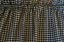 Valance Black and White Check Curtain Gingham Cotto for Any Room Prim Farmhouse