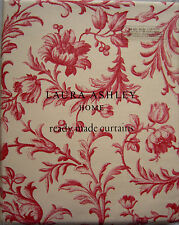 "LAURA ASHLEY - Ironwork Scroll cranberry pencil pleat curtains W64"" x L54"" NEW"