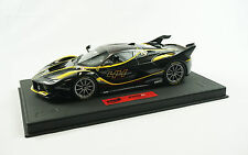 1/18 BBR FERRARI FXXK #44 NERO STELATTO BLACK DELUXE LEATHER BASE LE 5 PIECE MR
