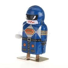clockwork design Wind Up Mini Robot Magic Boy Model Toy Collectible Gift Blue