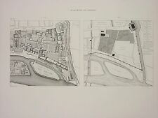 HOFF063  France Paris plan carte du quartier de l'Arsenal en  1420 et 1773
