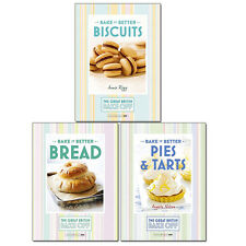 Great British Bake Off Collection Bake it Better 3 Books Set Biscuits, Bread NEW