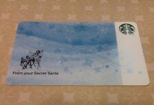 "STARBUCKS GIFT CARD 2015 ""WINTER SEASONAL""  From Your Secret Santa"" COLLECTABLE"