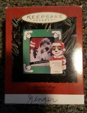 Hallmark Keepsake 1995 Special Dog in Santa Suit Photo Holder Christmas Ornament