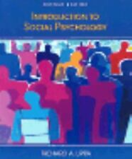 Introduction to Social Psychology RICHARD A. LIPPA Hardcover