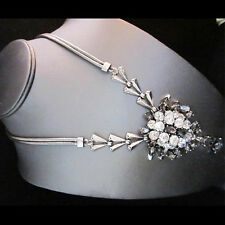 Signature Silver Brighton Bay Designer Ridge Gem Drop Necklace