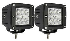 "2x 3"" 18W CREE LED Work Light Spot Lamp Bike Motorcycle CUBE POD Square 3X3 4WD"