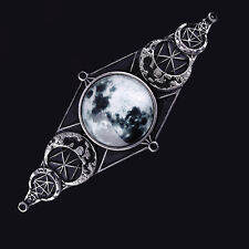 Restyle Luna geometery Broches. Cabello Cruceta. Lunar fases. Brujería. Wicca