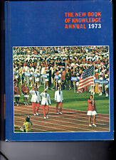 The New Book Of Knowledge 1973 History Book Hardcover