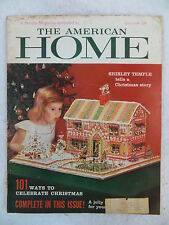 Vintage THE AMERICAN HOME Magazine December 1958  Shirley Temple