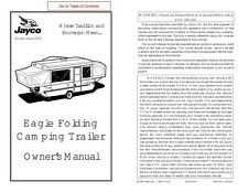 Jayco Fold-Down Pop-Up Tent Trailer Owners Manual- 2003 Eagle