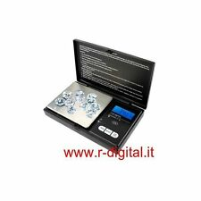 BILANCINO DIGITALE DI PRECISIONE 100Gr x 0.01Gr PORTATILE RICHIUDIBILE LED BLU