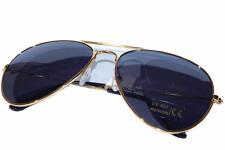 Aviator Brille Gold Schwarz Pilotenbrille Fliegerbrille Sonnenbrille Top Gun! P1