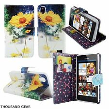 Sun Pedal Premium PU Leather Wallet Built in Stand Case Cover Skin Huawei Pronto